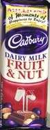 Cadbury Fruit & Nut Slab 90g